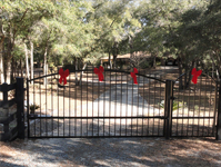 Estate Swing Gate with Pedestrian Gate