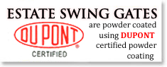 ESTATE SWING GATES-DUPONT GERTIFIED POWDER COATED