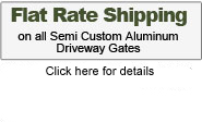 Flat rate shipping on all driveway gates, see details