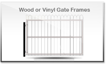 Wood or Vinyl Gate Frames